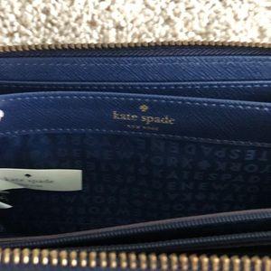 kate spade Bags - Kate Spade Blue Flower Wallet